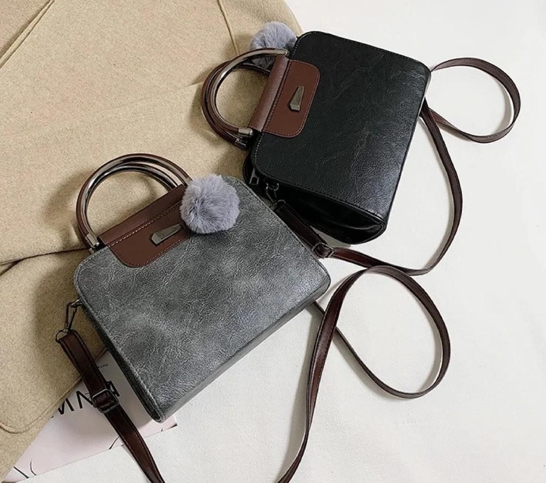 Женская черная деловая сумка