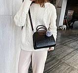 Женская черная деловая сумка, фото 5