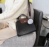 Женская черная деловая сумка, фото 7