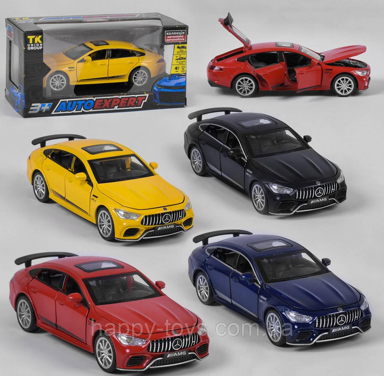 """Машинка Мерседес AMG металлическая инерционная, 1:32 """"Auto Expert"""" VB 63006, 4 цвета со звуком и светом"""