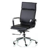 Офисное кресло Solano-4 Special4You черное хром на колесиках