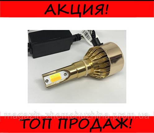 Автомобильные LED лампы C6 H7 (золотая коробка), фото 2