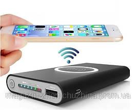 Портативное зарядное Power Bank 10000 mAh Wireless беспроводной 808, фото 3