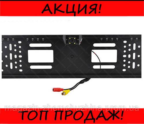 Камера заднего вида рамка 16LED Black с подсветкой номера