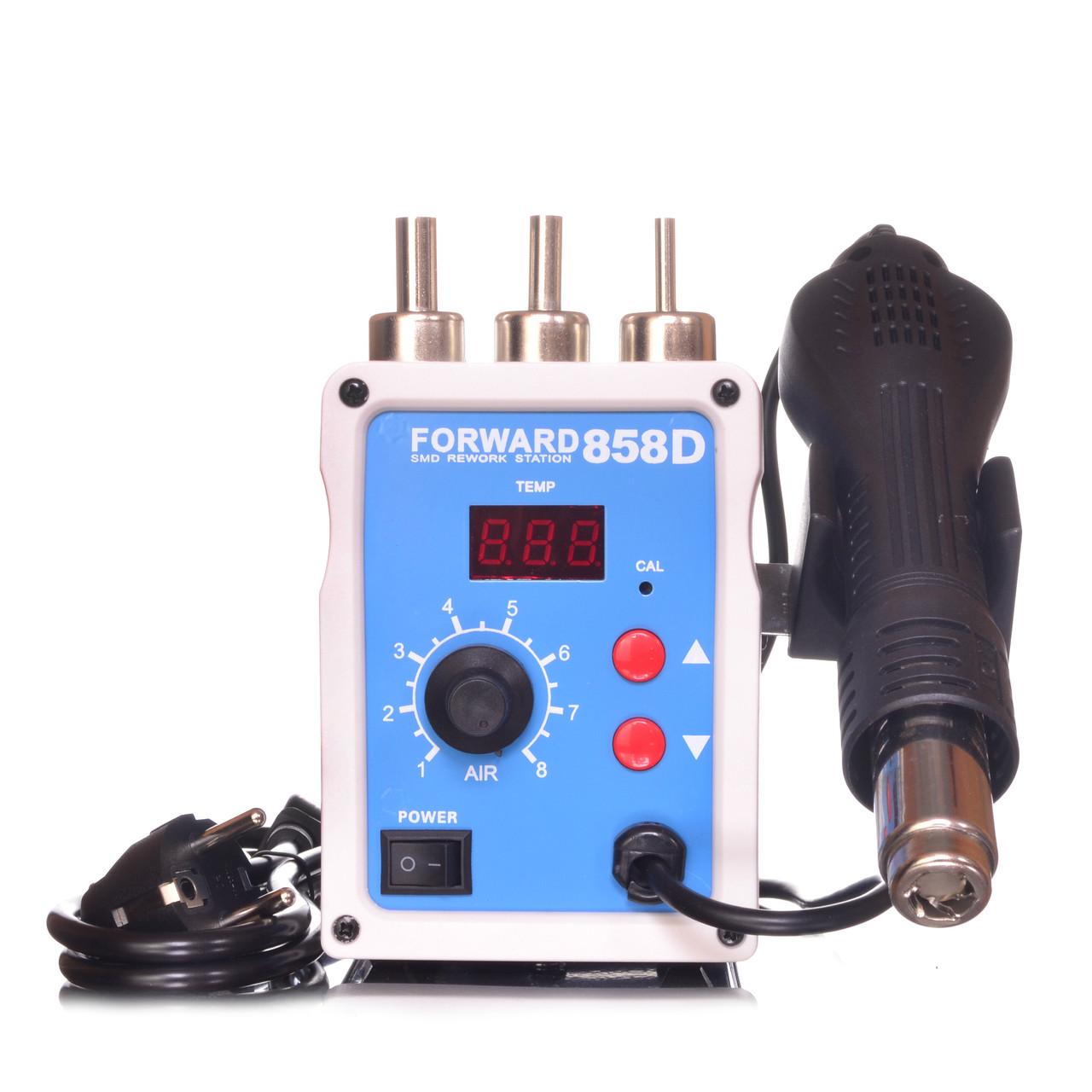 Паяльна станція Forward 858D термофен для пайки 700W пайка SMD, BGA, QFP, метал. корпус
