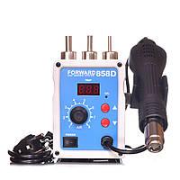 Паяльна станція Forward 858D термофен для пайки 700W пайка SMD, BGA, QFP, метал. корпус, фото 1