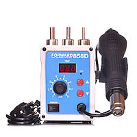 Паяльная станция Forward 858D термофен для пайки 700W пайка SMD, BGA, QFP, метал. корпус