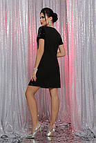 Шифонова біле плаття в стилі з орнаментом Розміри S, M, L, XL, фото 2