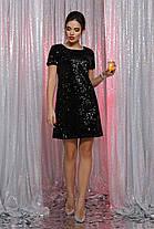 Шифонова біле плаття в стилі з орнаментом Розміри S, M, L, XL, фото 3