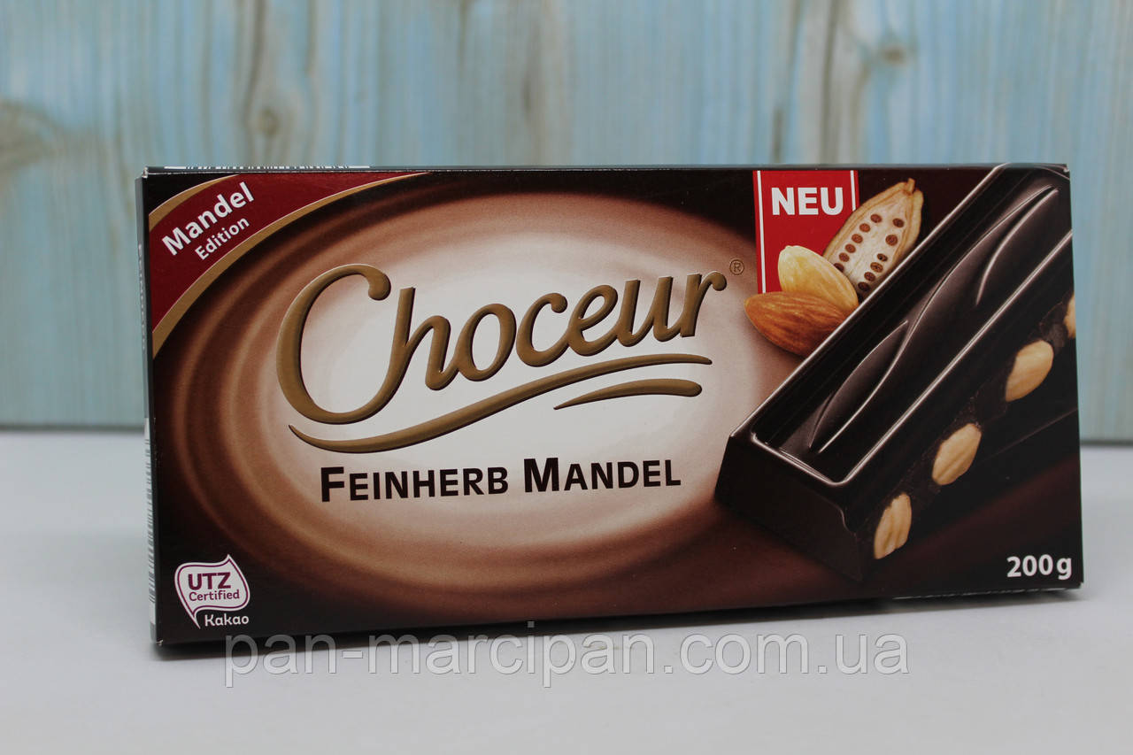 Шоколад Choceur Feinherb Mandel 200г Німеччина