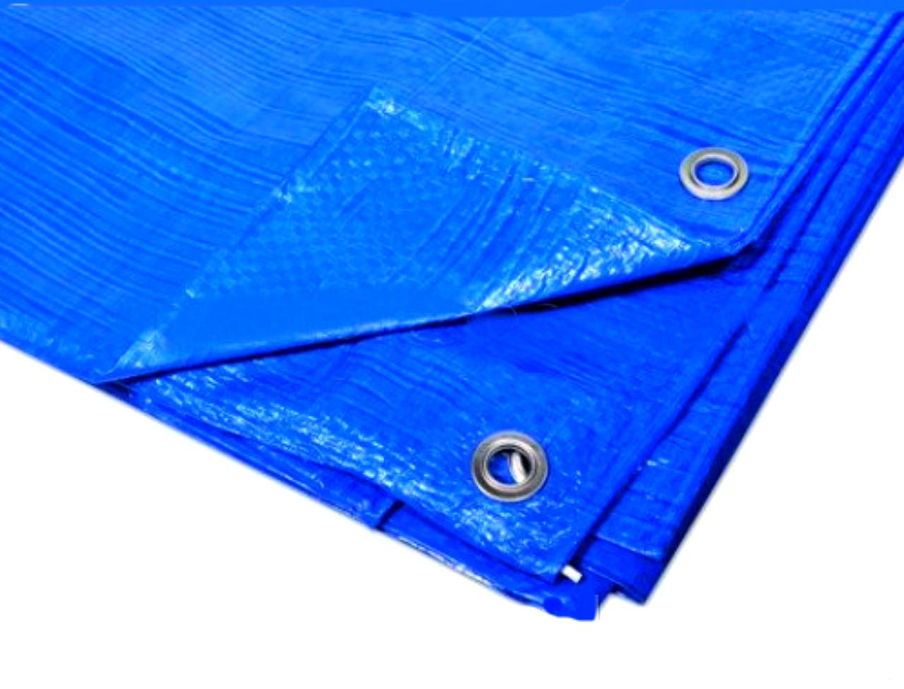 """Тент 8х12 от дождя (строительный) """"Blue"""" 60 г/м2. Ламинированный с кольцами. Полог."""