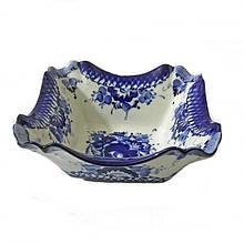 Керамический салатник роспись гжель