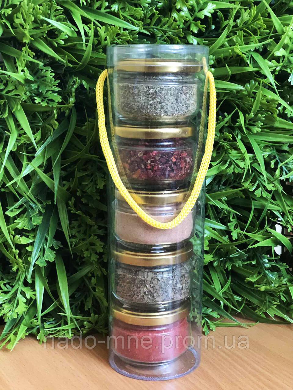 Специи и приправы в наборе: базилик, для мяса, майоран, аджика сухая, гвоздика