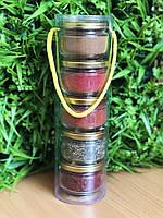 Подарочный набор из специй : орегано, сванская соль, чеснок, для первых блюд, для шашлыка, фото 1