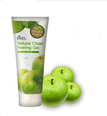 Натуральная пилинг-скатка с экстрактом зеленого яблока Ekel Apple Natural Clean Peeling Gel, 180 мл, фото 2