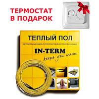 Тонкий кабель под плитку In-term 640 Вт 3,2-4,5 м2, фото 1