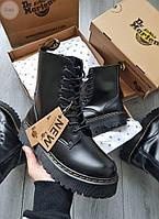 Женские зимние ботинки Dr. Martens Jadon (черные) 558GL
