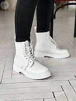 Женские демисезонные ботинки Dr. Martens (без меха) белые 526GL