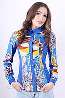 Женская рубашка из эко-замши Lipar Электрик