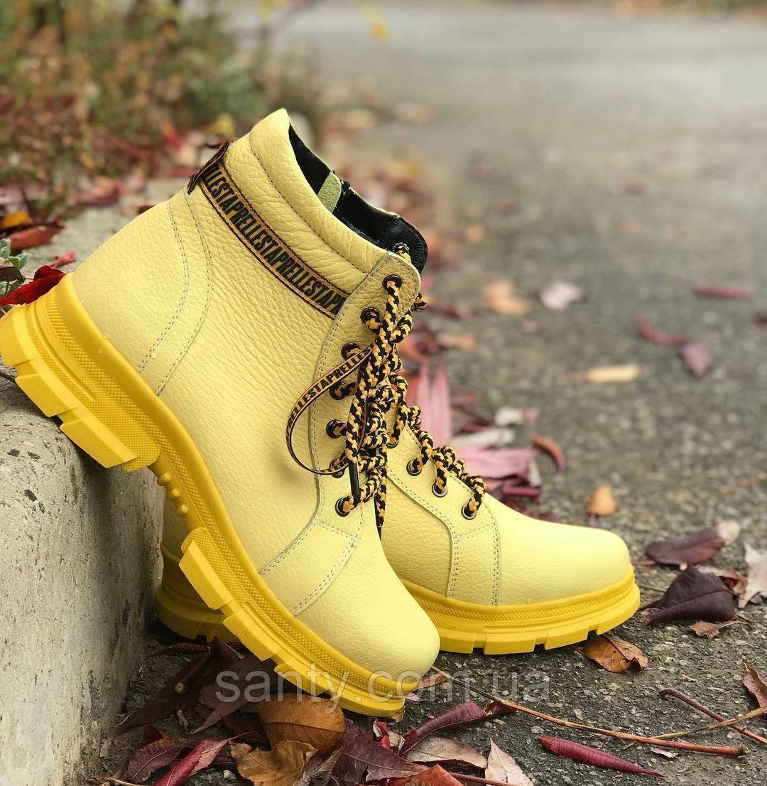 Зимние женские ботинки из натуральной кожи.