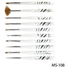 Набір кистей для дизайну і малювання на нігтях Lady Victory LDV MS-108 /0-4