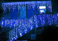 Светодиодная гирлянда штора Blue синий водопад 3м * 2м 480LED NEW IP44 белый провод ECOLEND, фото 1