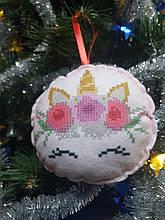 ШНФ-022. Заготівля для вишивки бісером Новорічна іграшка.
