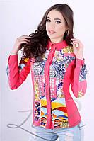 Женская рубашка из эко-замши Lipar Розовая