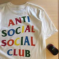 Футболка ASSC   Цифровая печать   Бирка Anti Social Social Club