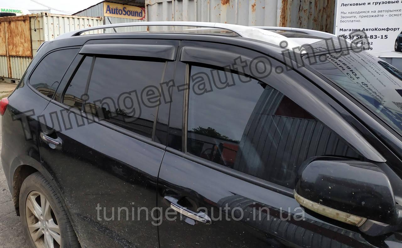 Дефлекторы окон, Ветровики Hyundai Santa Fe 2006-2011 (ANV)