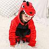 Кигуруми Дракон красный пижама цельная детская комбинезон унисекс р.130, фото 4