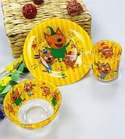 Набор детской посуды Три кота