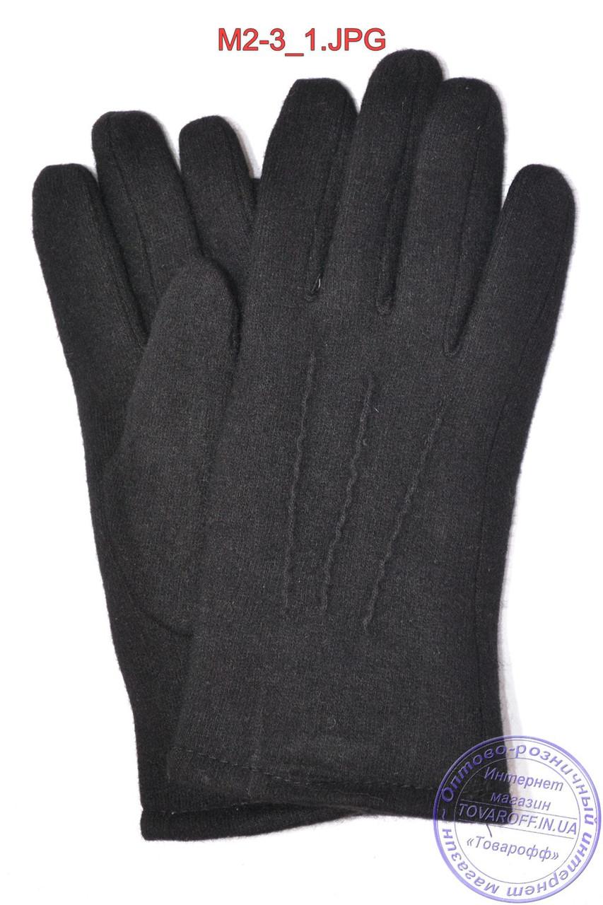 Оптом мужские кашемировые перчатки на плюше - M2-3