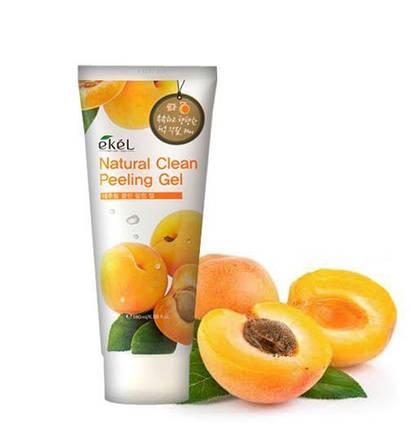 Пилинг-скатка для лица с экстрактом абрикоса Ekel NATURAL CLEAN PEELING GEL APRICOT, 180 мл, фото 2