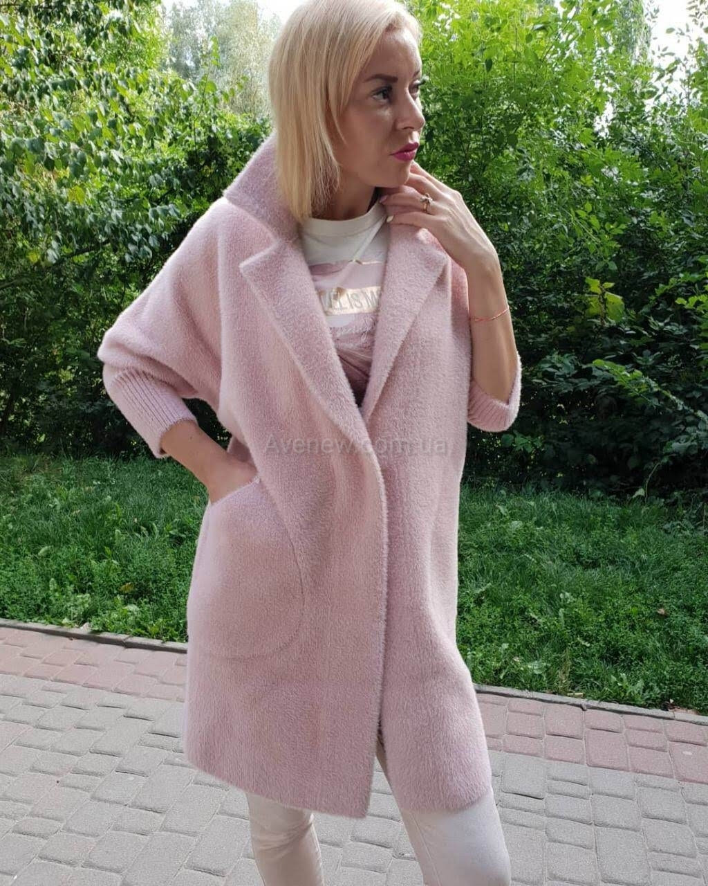 Пальто -кардиган из шерсти альпаки