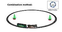 Жел./дорога с конструктором, свет-звук, работает от батарей, фото 2