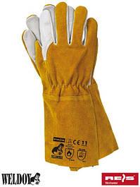 Шкіряні рукавички робочі (краги)