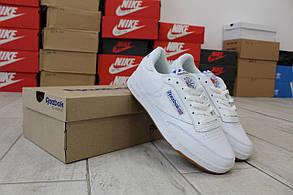 Мужские демисезонные кроссовки Reebok Workout (бело-синие) D38