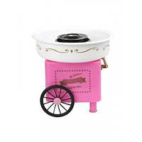 Аппарат для приготовления сахарной ваты большой Candy Maker. Розовый с белым