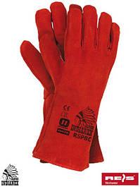 Длинные кожаные перчатки рабочие