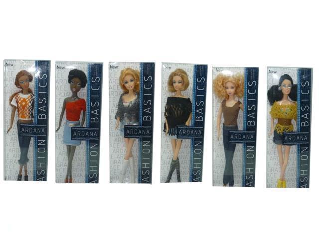 Кукла 29 см Джинсовая мода 6 шт в ассортименте