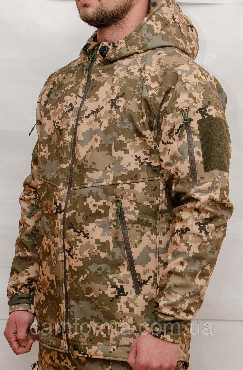 Тактическая куртка SOFT SHELL. Пиксель