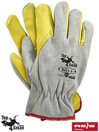 Короткие кожаные перчатки рабочие
