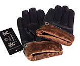 Мужские перчатки кожа лайка, подкладка флис (размеры 11-13), фото 3