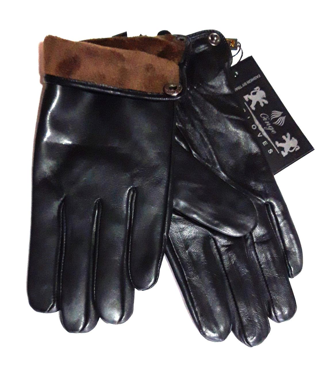 Мужские перчатки кожа лайка, подкладка флис (размеры 11-13)