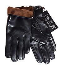 Чоловічі перчатки шкіра лайка, підкладка фліс (розміри 11-13)