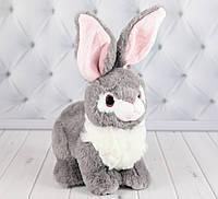 Мягкая игрушка зайка Пушинка серый, плюшевый зайка 20 см., фото 1