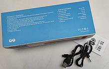 Портативная беспроводная bluetooth юсб колонка музыки блютуз акустика с солнечной батареей для телефона синяя, фото 3