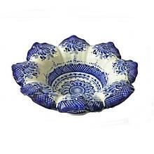 Конфетница керамическая фигурная роспись гжель Ажур