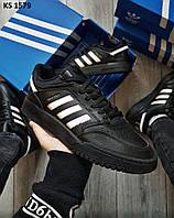 Мужские кроссовки Adidas Drop Step (черные) KS 1579